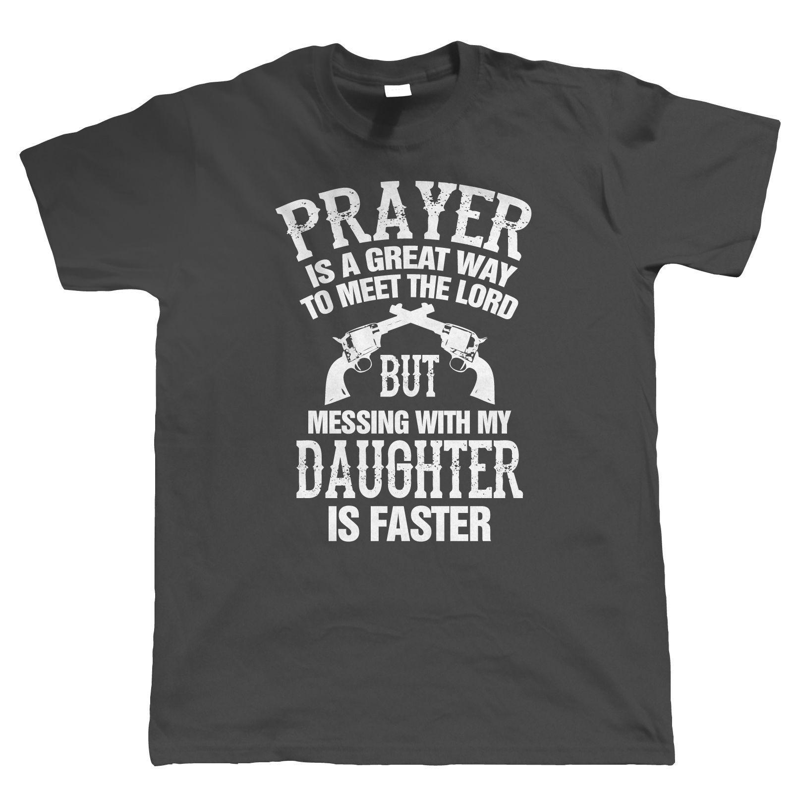 Mess With My Daughter Mens Funny T Shirt Fathers Day Birthday Gift For Dad Online 1315 Piece On Vectorbombs Store