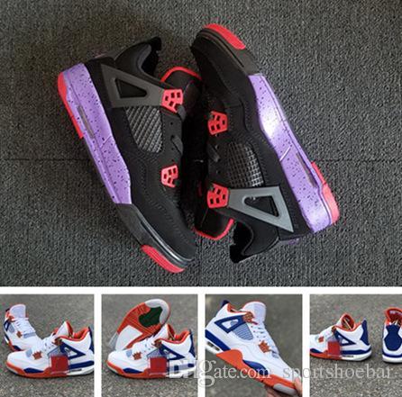 Basketball Shoes 4s Raptors White Blue 4s Og Cement Men Sneaker ... ff5bbf2f0