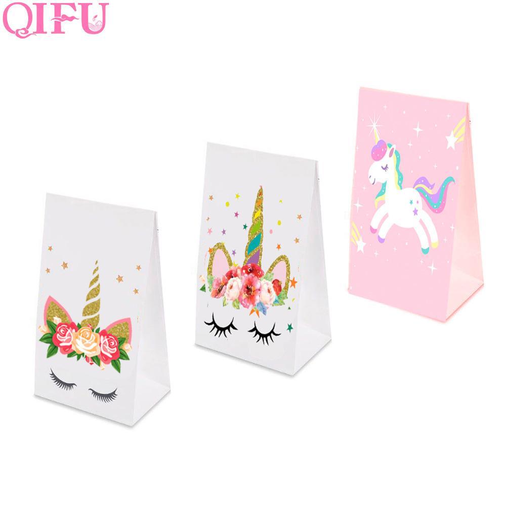 QIFU Unicorn Gift Bag With Handles Wedding Candy Bag Cookie Baby ...