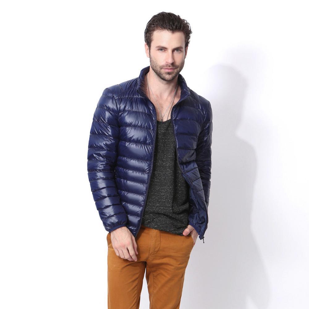 Acheter 2019 2018 Nouveau Design Automne Hiver Hommes Vers Le Bas Veste  Hommes Casual Manteau De Mode Imperméable Léger Parka Veste Hommes De   41.74 Du ... d70ff22bbfb