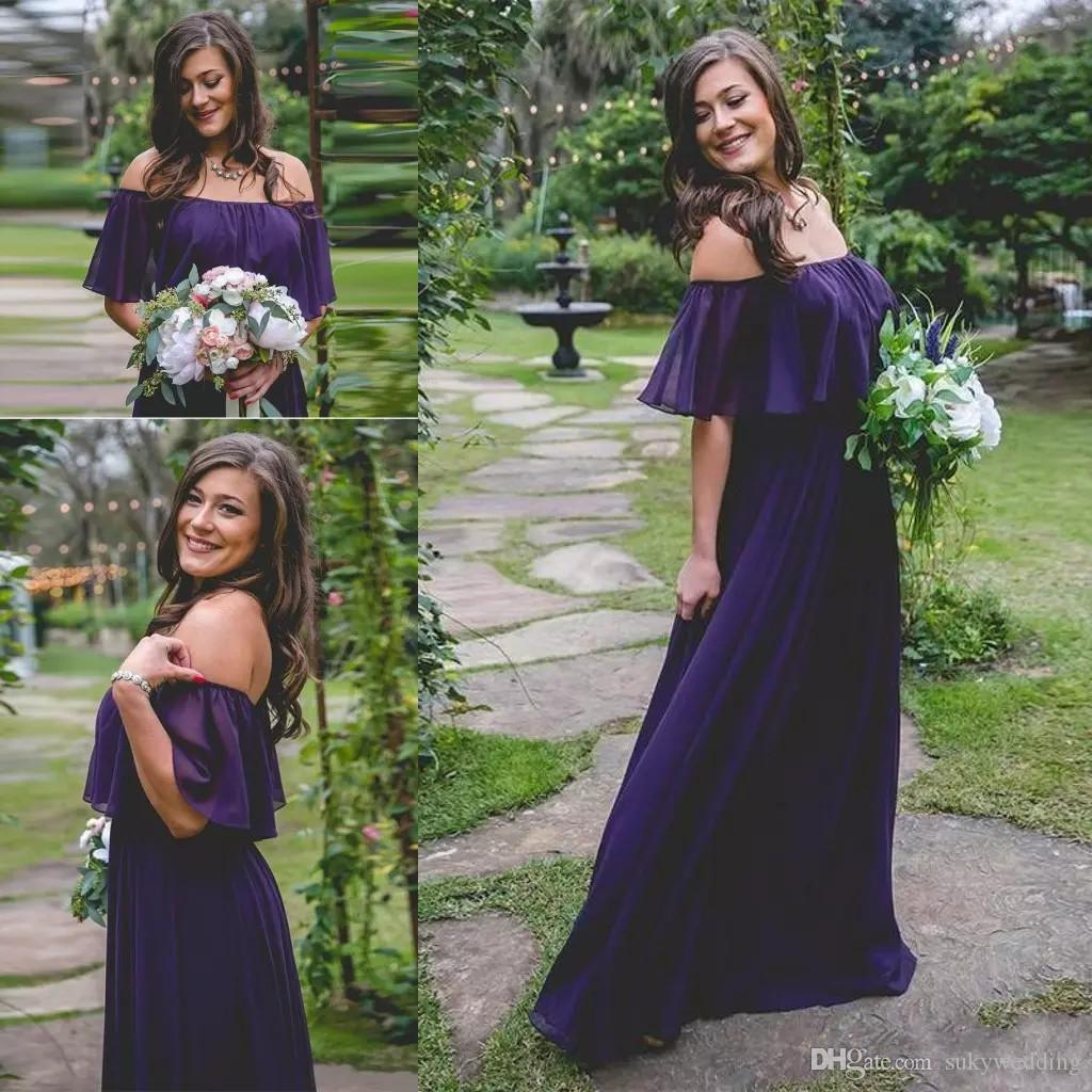 Cheap Chiffon Bridesmaid Dresses Cowl Back Discount Long Fishtail Bridesmaid  Dresses b48df5db8de0