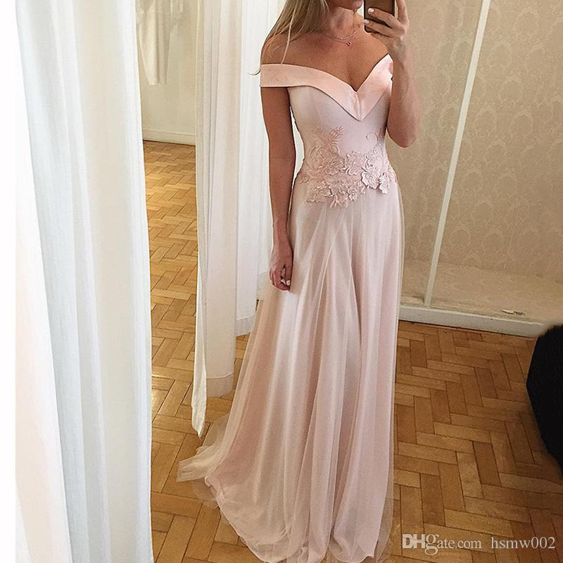 Charming pink Long Pron Dresses 2018 Glamorous Pink Appliques Chiffon With Tulle Long Custom Made 2018 Red Carpet Dress Evening Party Gowns
