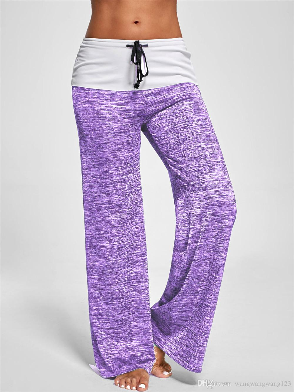 England casual pants spring autumn lady indoor High waist Drawstring Loose Relaxed Leggings Capris Cotton Blend Yoga training Sport trousers