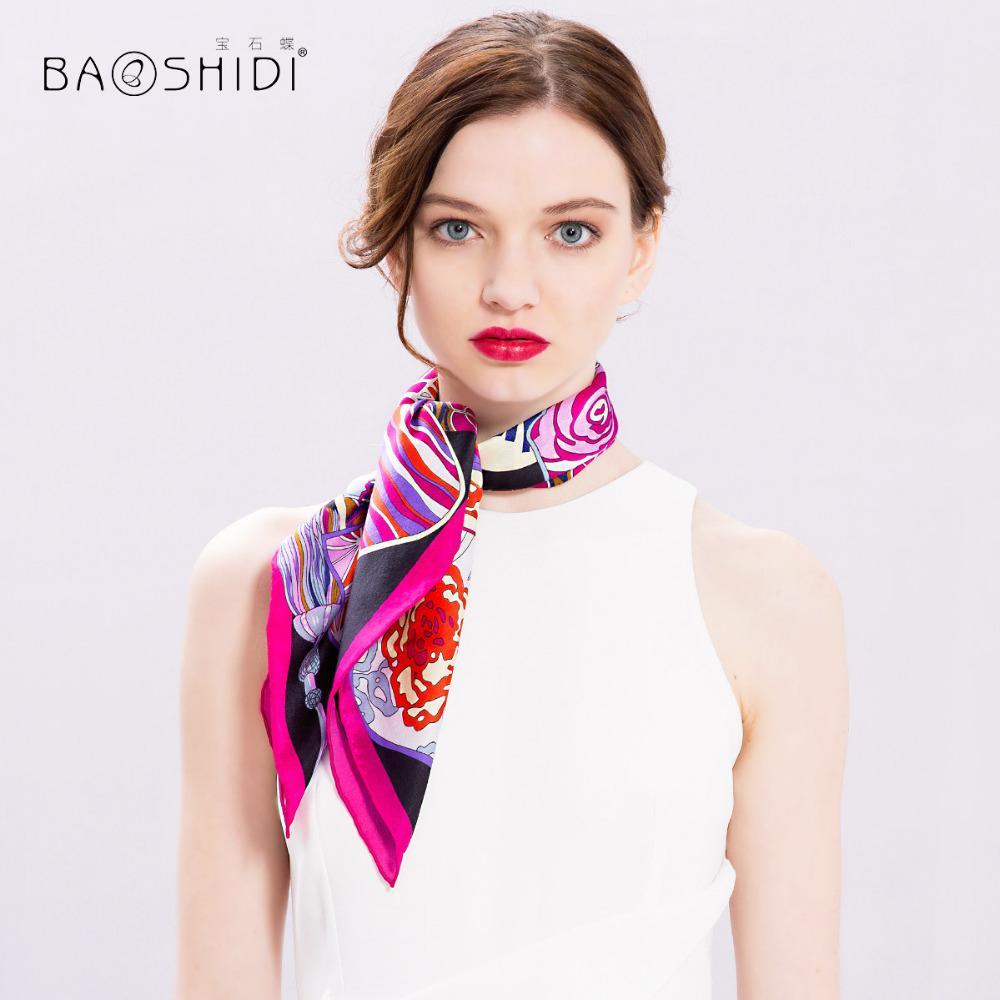 778075383725 BAOSHIDI100% Silk Scarf Women
