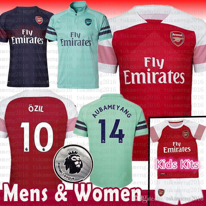 aa125ddd0 18 19 Arsenal Soccer Jersey Hombres Mujeres Niños Kits 14 Aubameyang 10  Ozil 9 Lacazette 11 Torreira 8 Ramsey Iwobi Mkhitaryan 2018 Camisetas De  Fútbol Por ...