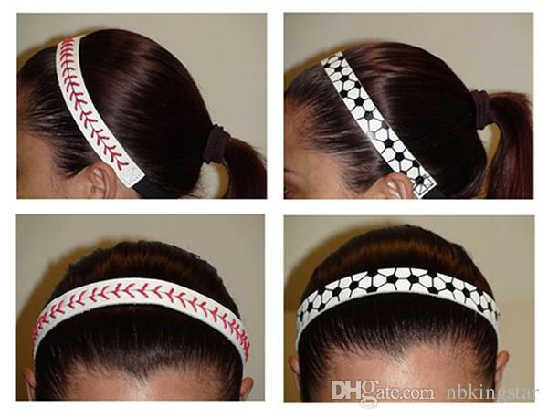 Fashion Softball Baseball Leather Headbands Stitching Seam Fast Pitch Hair Band Elastic Sport Bandage