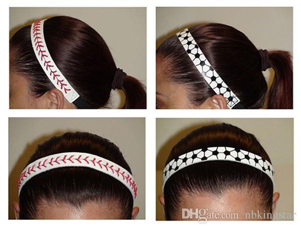 Mode-Softball-Baseball-Leder-Stirnbänder, die nahtschnellen Neigungs-Haarband-elastischen Sport-Verband / nähen