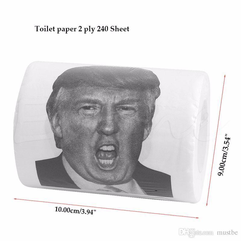 Donald Trump Humor Toilettenpapierrolle Neuheit Lustige Gag Geschenk Dump mit Trump / Küche Zubehör