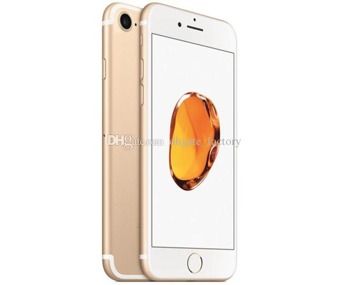 100% original 4.7 pulgadas 5.5 pulgadas Apple iPhone 7 Plus IOS 4G LTE 12MP con huellas dactilares desbloqueadas, teléfonos celulares restaurados, DHL gratis