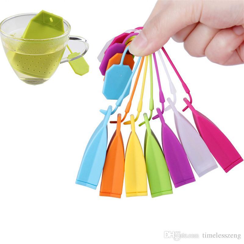 الغذاء الصف سيليكون هانغباغ infuser حقيبة يد شكل فضفاض أوراق الشاي مصفاة الشاي العشبية تصفية حقيبة الإبداعية