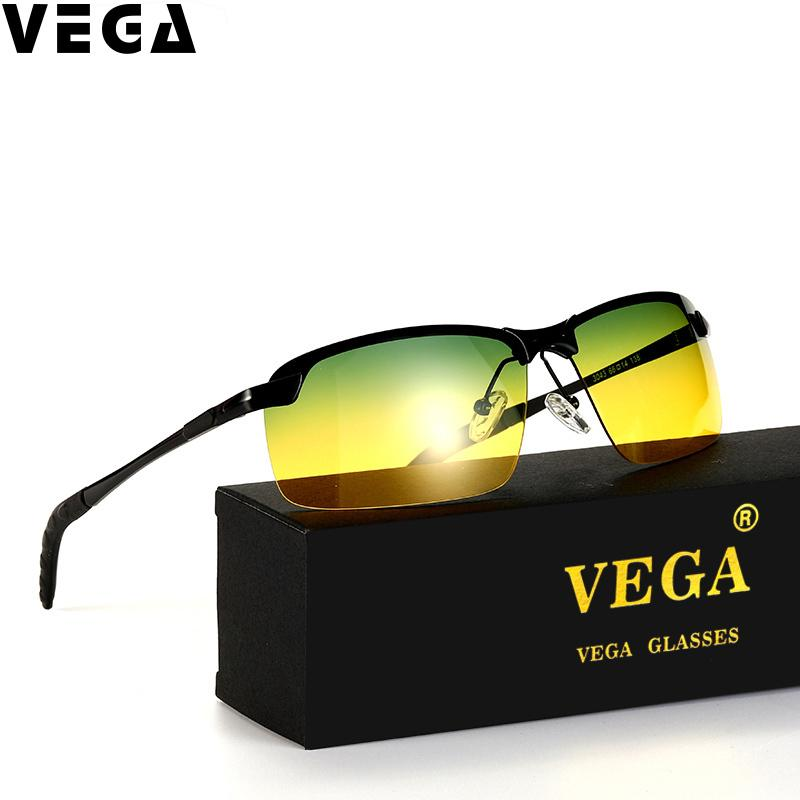 6512449e1b VEGA Polarized Yellow Driving Sunglasses At Night High Quality HD Vision  Day Night Sunglasses Polarized Safety Glasses With Box C18111701 Mirror  Sunglasses ...