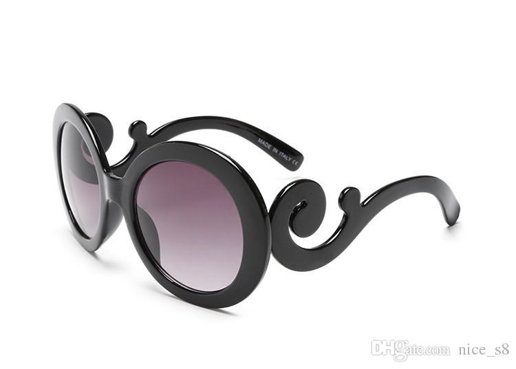 Italiy milan design brand 9901 sunglasses women auspicious cloud leg fashion style round sun glasses clout goggles cool eyewear