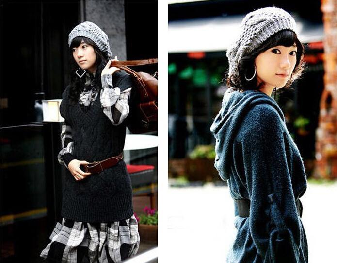Lady Winter Warm Wricotted Hats Cappelli Caps Uncinetto Slouch Berretto Berretto Berretto Berretto Cappello Berretto Berretto Berretto a maglia Abbigliamento a maglia 20 pezzi