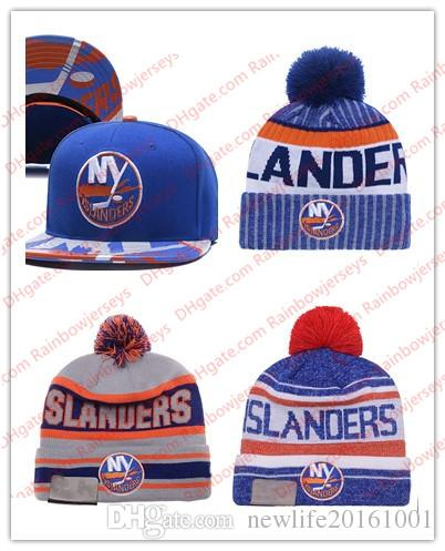 New York Islanders Snapback Caps Embroidery Ice Hockey Knit Beanies  Adjustable Hat Blue White Gray Stitched Hats One Size for All d5b74a3e5ca