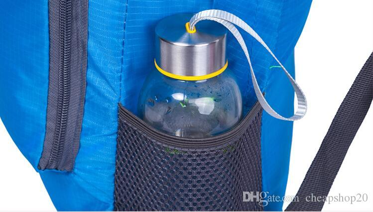 Nueva mochila plegable impermeable al aire libre Camping Senderismo Mochila de gran capacidad Bolsa de viaje ultraligera Nylon multicolor de calidad superior