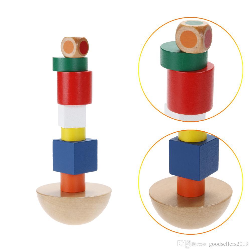 Éducation d'apprentissage Jouets en bois Hemisphere Balance Stacking Game Jouets pour enfants Éducatifs Bois Jouets Building Blocks Enfants Bébés Jouets