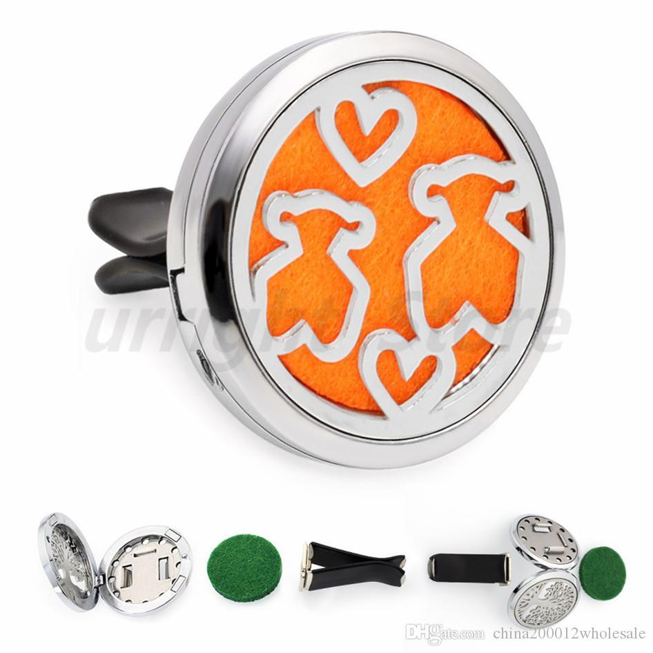 A29 Aceite esencial Difusor de coche Medallón aire Fresco extraíble Vent Clip Medallón de perfume Magnético aleatoriamente 10 almohadillas