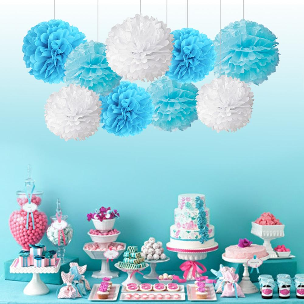 2019 Birthday Party Decoration Paper Pom Poms Tissue Paper Pompoms