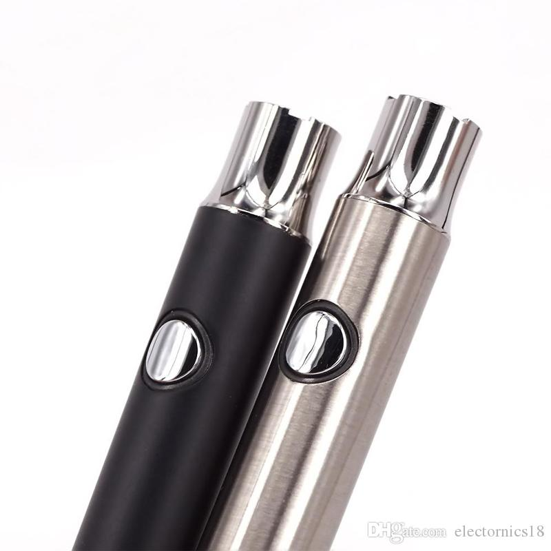 Preheating 380mAh Battery Bottom Light Design Preheat Battery Variable Voltage Bud Vape Pen Battery for Ceramic Tank Liberty Vaporizer
