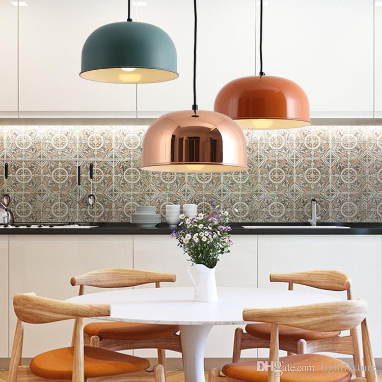 Nordic Modern Creative Metal Lamsphade Pendant Light Dinning Room Unique Light Fixture For Dining Room Creative