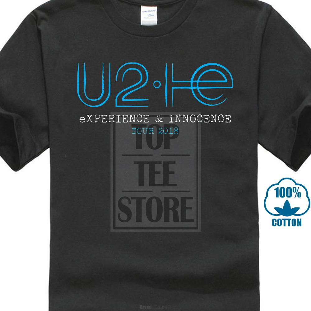 7f637255d06 New U2 Experience Innocence Tour 2018 Logo Bono Mens Black T Shirt Size S  3Xl Buy Shirts Online Print Shirts From Carawayo