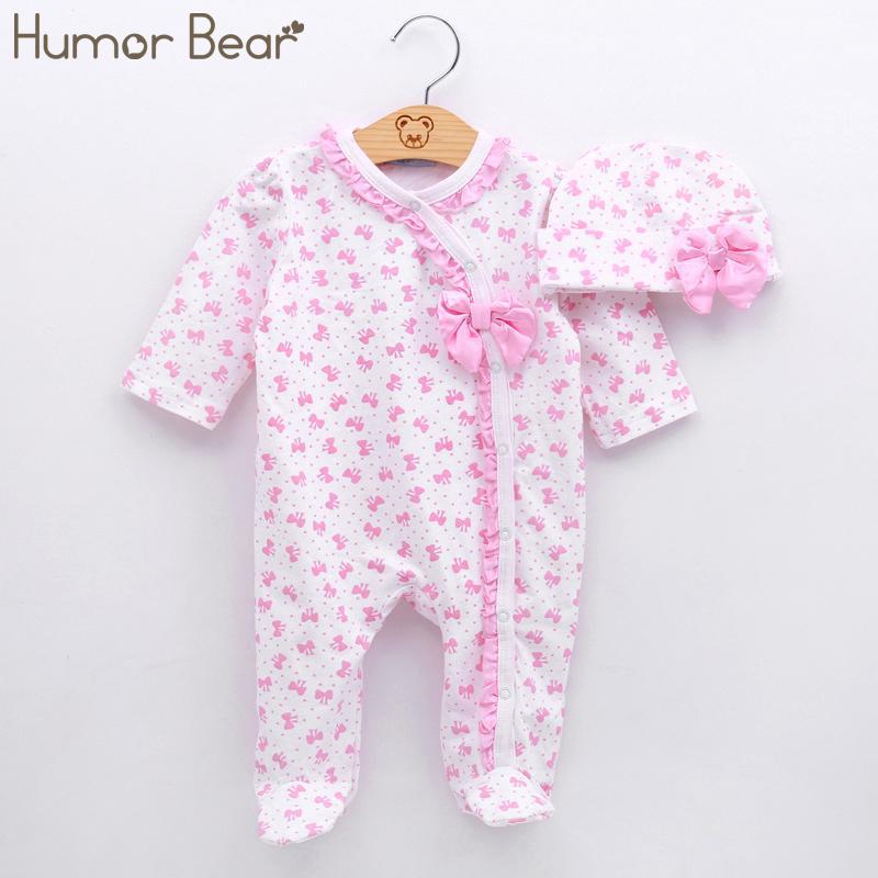 Acheter Humour Ours Bébé Vêtements Christma Bébé Fille Vêtements Arc