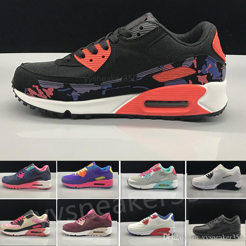 019d0923450 Acheter Nike Air Max 90 Airmax Femmes Sneakers Chaussures Classique 90  Femmes Et Femme Chaussures Sport Entraîneur Air Coussin Surface Respirant  Chaussures ...