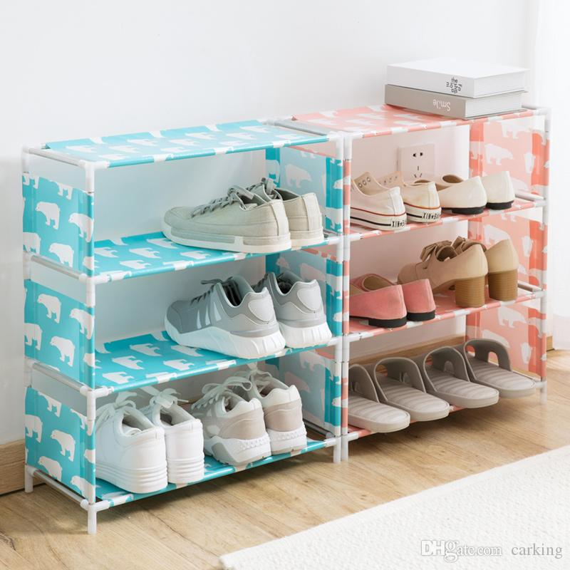 070f569eb73 2019 Cloth Material Shoe Rack Household Simple Economic Type Shoe Storage  Rack Dormitory Dorm Room Multi Layer Storage Dust Proof Shoes Cabinet From  Carking ...