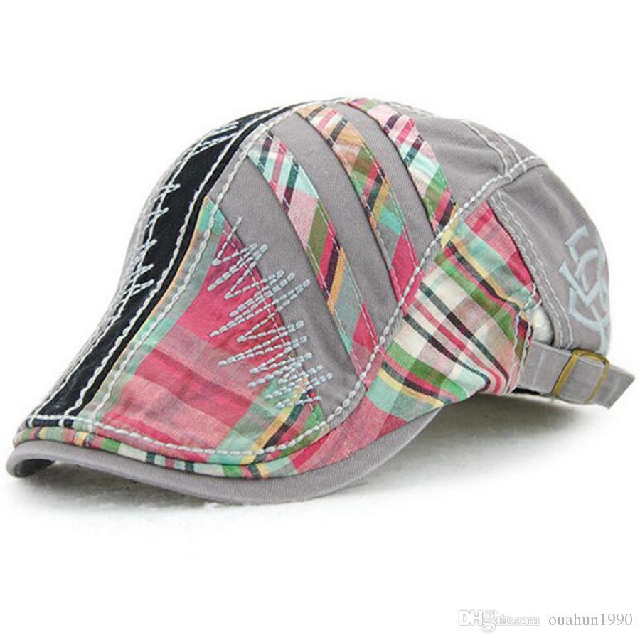 df353f855743c 2019 Cotton Flat Cap Duckbill Hat Newsboy Ivy Cabbie Drving Hat Hunting Golf  Men Women Unisex Adjustable Gatsby Fashion Snap Vintage Beret 12489 From ...