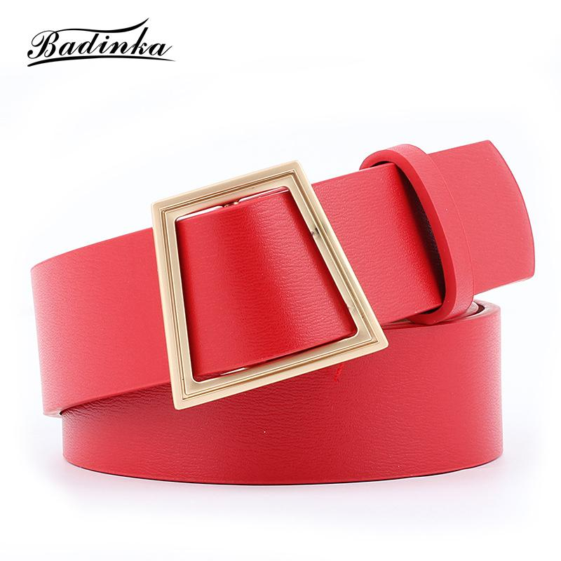 53f928f77c Badinka 2018 New Designer Black Red Pink Yellow White Wide Corset Leather  Waist Belt Female Gold Buckle Belts For Women Dress Han Solo Belt Gold  Waist Belt ...