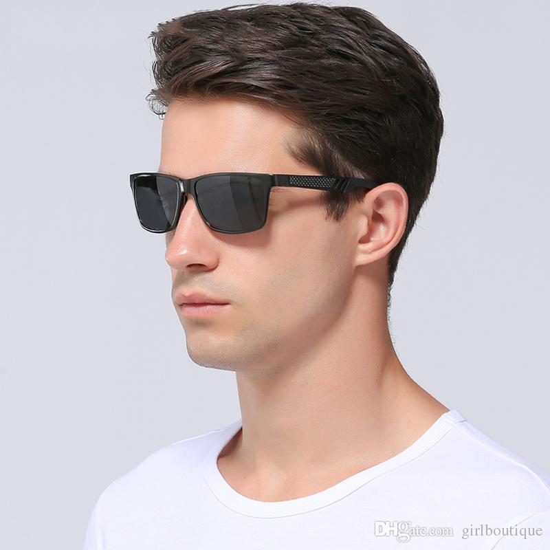 2d1640431 Compre 2018 Óculos De Sol De Alumínio E Magnésio Masculino Homens Óculos De  Sol De Condução Moda Europa E América Dazzle Óculos De Lente Polarizada ...