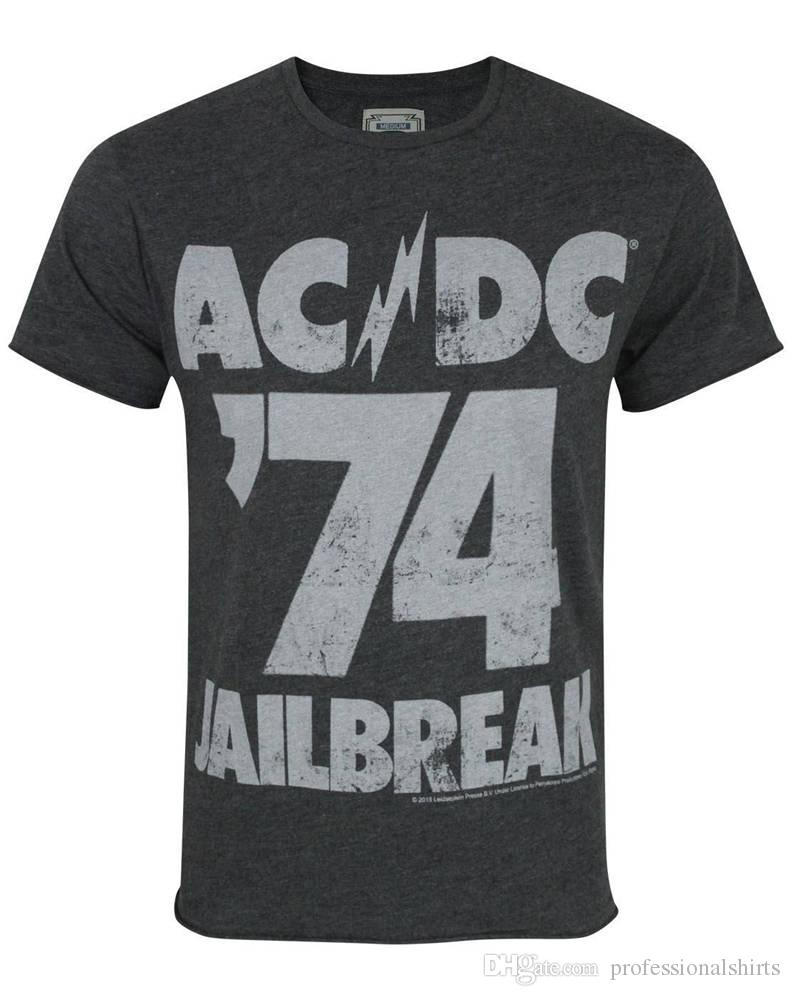 3f1993b6437a Summer Clothing Crew Neck Amplified Ac Dc  74 Short Design T Shirts For Men  T Sirt T Shirt Sites From Professionalshirts,  11.53  DHgate.Com
