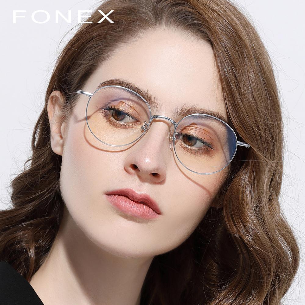 dda9bc7e3100a Pure Titanium Glasses Frame Men Retro Women Round Prescription Eyeglasses  Harry Hot Vintage Potter Myopia Optical Frames Eyewear