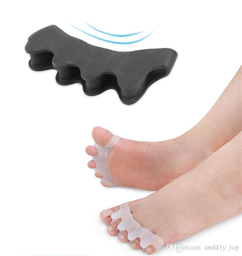 Nuevo hallux valgus pulgar valgus corrector separador de cinco dedos separador de dedos superpuesto cuidado de clip de pie de protección