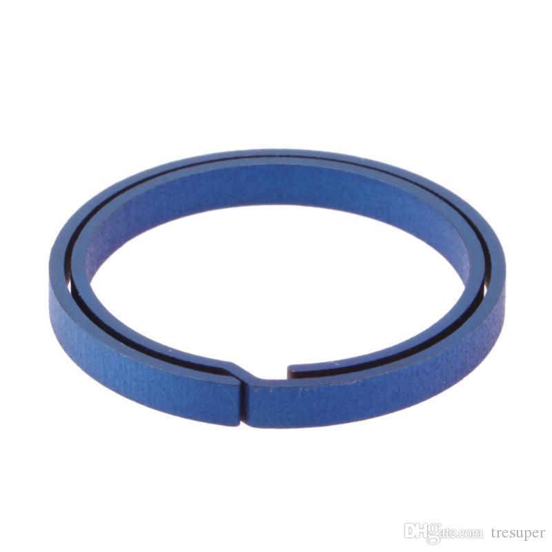 Azul Titanium EDC Chaveiro Puro Chave Anel Dividir Fivela Pendurado Chaveiro Chave De Fenda EDC Set Ao Ar Livre Portátil Mini Bolso Ferramenta