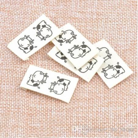 50pcs in stock washable cloth woven labels clothes name label sew in  folding hanging tag garment Personalized 20x37mm cp1528