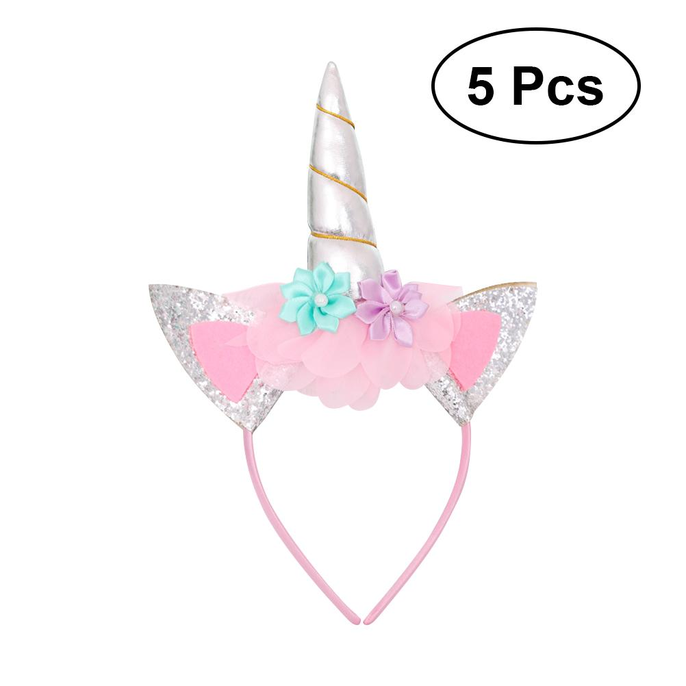b0b1ca5d58e Kids Headband Unicorn Cartoon Bowknot Hair Accessories Hair Hoop ...