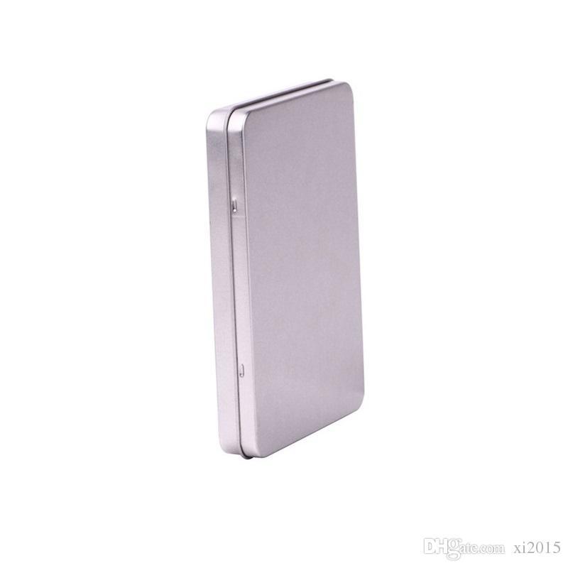 Métal boîte en fer blanc photo carte postale grand rectangle classique bijoux en argent porte-boîte de rangement 160 * 112 * 20 mm livraison gratuite wen5480