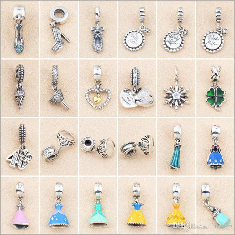 72b987bcac7e 2019 Authentic 925 Sterling Silver Beauty Princess Charms Fit European  Pandora Real Silver Charms Bracelet Beads Jewelry DIY From Licuiip