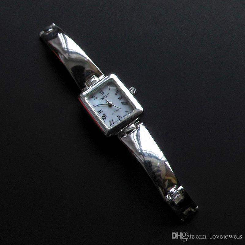 6f280e920 Luxury Watch Designer 925 Sterling Silver Wristwatches Black And White Gift  925 Silver Women Watches Quartz Brand Simple Detachable First Wrist Watch  ...