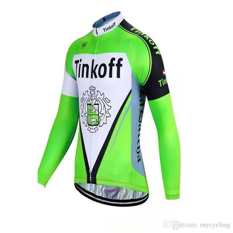 2018 New Tinkoff Cycling Jersey Long Sleeve Shirt Tour De France Bike  Clothing Quick Dry Bicycle Wear Ropa Ciclismo Hombre F2318 Biking Clothes  Bike Shirts ... 7b0d7b0ce