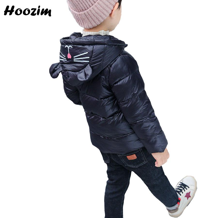 15b77e982525 Autumn Cotton Parka Kids Casual Cartoon Cat Jacket For Boy Nice Boys ...
