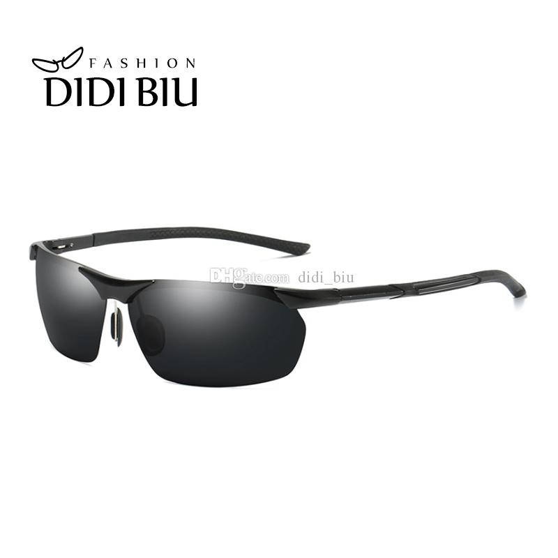 596b3748537 DIDI Rimless Polarized Sunglasses Men Classic Rectangle Aluminium ...