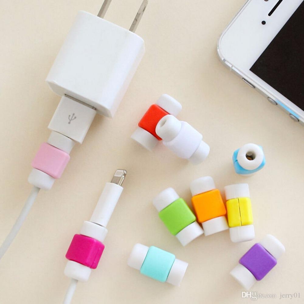 Random Color 2 5 10X USB Data Charging Cable Protector Saver Cover ... 2feaca2cf4