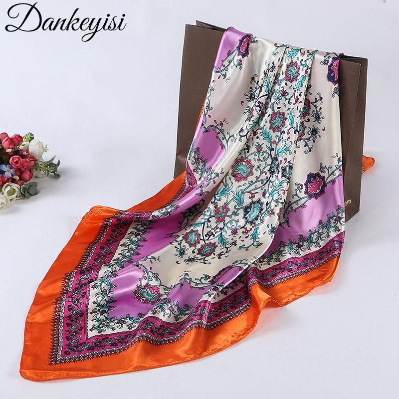 Acheter DANKEYISI Marque 2018 Printemps Foulard Femmes Floral Imprimé Carré  Châle Foulards En Soie Echarpe Dame Élégant Hijab Wraps 90   90cm De  25.15  Du ... db2b769c9e1