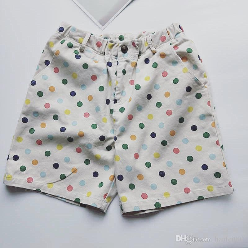 e0c44eaca115a5 2019 18ss Golf Wang Rainbow Polka Dot Shorts Canvas Cargo Pants Trendy Men  Streetwear Unisex Ripped Cargo Style Shorts HFTTDK001 From Iloveapple