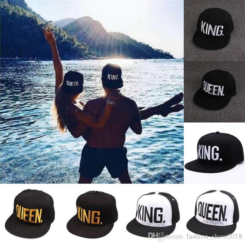 be358c0d998 KING QUEEN Hip Hop Baseball Caps Embroider Letter Couples Lovers Adjustable  Snapback Sun Hats for Men Women Queen King Hats Hip Hop Baseball Caps  Snapback ...