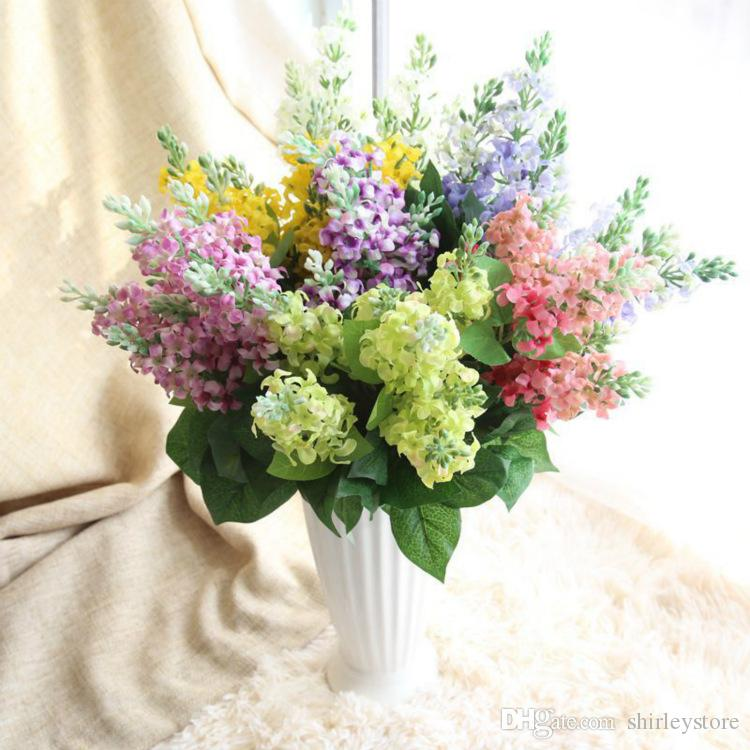 Factory Artificial Bridal Hyacinth Bouquet Home Decoration Wedding Party DIY Bouquet Fake Silk Flowers Craft Free Shipping
