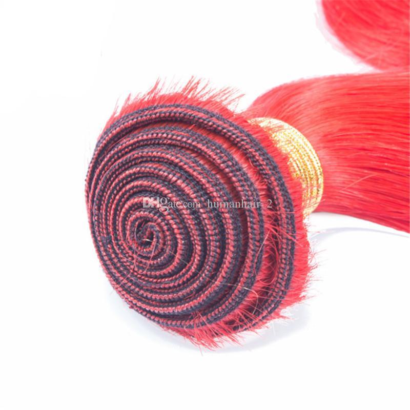 말레이시아 인간의 머리카락 번들 로즈 핑크 # 컬러 바디 웨이브 인간의 머리카락 로즈 골드 버진 머리카락 100g / pc /