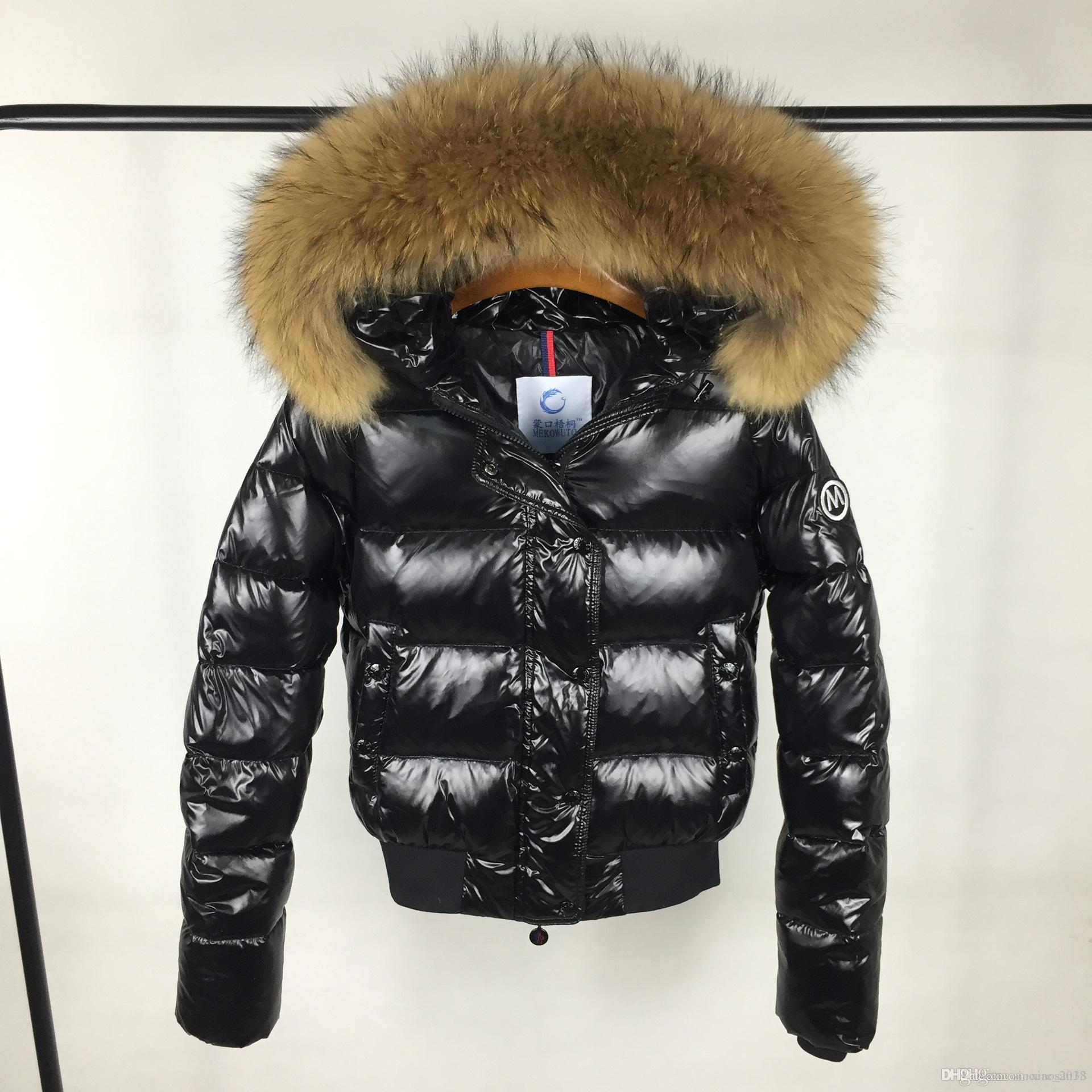5545092b266 2019 Hot Sale M Women 90% White Duck Down Coats Black /Red Down Jackets Big  Real Large Raccoon Fur Collar Hooded Thick Duck Down Parkas Size S XL From  ...